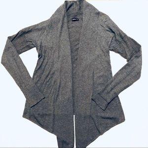 Express Cashmere Blend Waterfall Open Sweater M